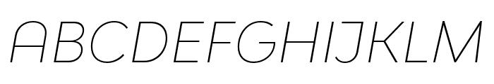 Bw Modelica SS01 Thin Italic Font UPPERCASE