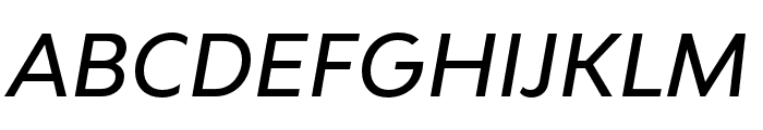 Bw Modelica SS02 Medium Italic Font UPPERCASE