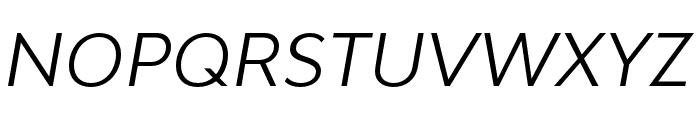 Bw Modelica SS02 Regular Italic Font UPPERCASE