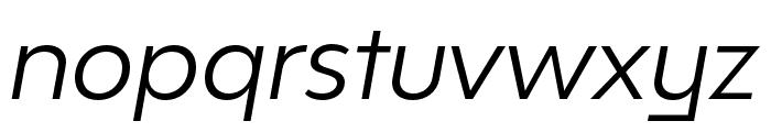 Bw Modelica SS02 Regular Italic Font LOWERCASE