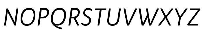 Bw Quinta Pro Regular Italic Font UPPERCASE