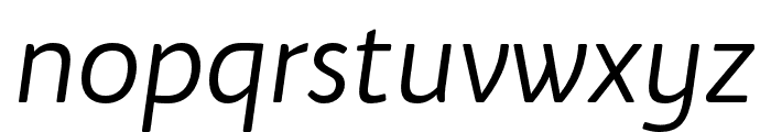 Bw Quinta Pro Regular Italic Font LOWERCASE