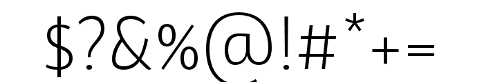 BwSurco-Light Font OTHER CHARS