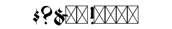 Candelabra Font OTHER CHARS