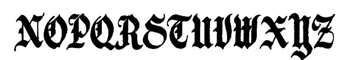 Candelabra Font UPPERCASE