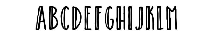 Catalina Avalon Sans Inline Font UPPERCASE