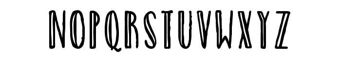 CatalinaAvalonSansInline Font LOWERCASE