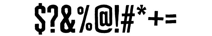 Cheddar Gothic Sans Regular Font OTHER CHARS
