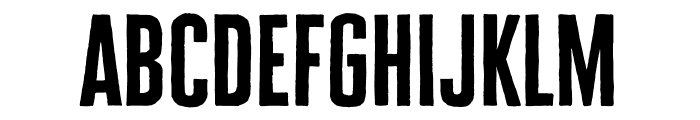 Cheddar Gothic Sans Two Bold Font LOWERCASE