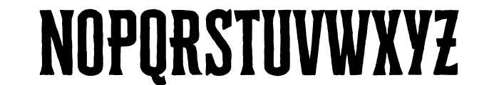 Cheddar Gothic Serif Regular Font UPPERCASE