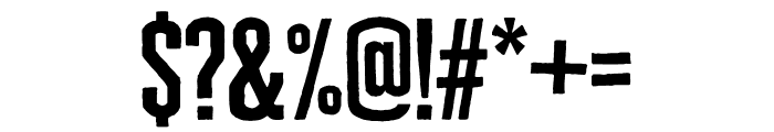Cheddar Gothic Slab Regular Font OTHER CHARS