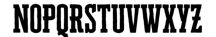 Cheddar Gothic Slab Regular Font UPPERCASE