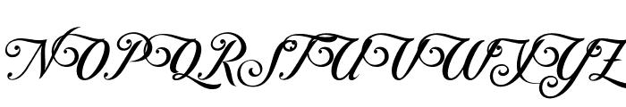 ControwellScript-Regular Font UPPERCASE