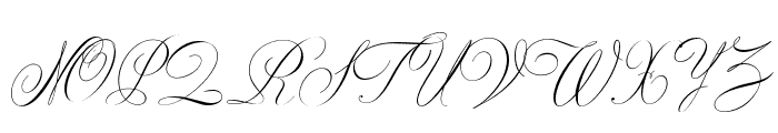 CynthiaJuneJF Regular Font UPPERCASE