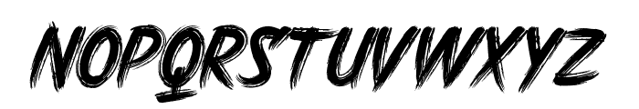 DHF Harry's Brush Font UPPERCASE