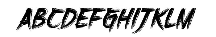 DHFHarry'sBrush Font UPPERCASE