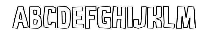 DJADOELoutline Font UPPERCASE