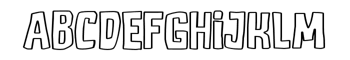 DJADOELoutline Font LOWERCASE