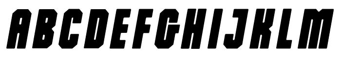 Dalmation Oblique Regular Font UPPERCASE