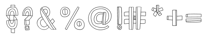 Dazey Font OTHER CHARS