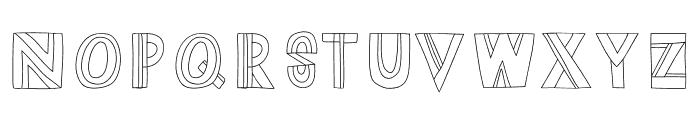 Dazey Font UPPERCASE