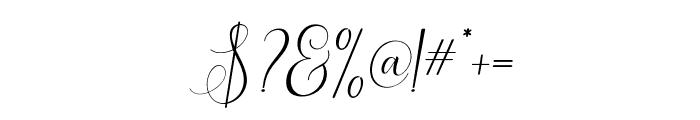 ErittaSlant Font OTHER CHARS