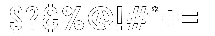 Explode-OffsetOutline Font OTHER CHARS