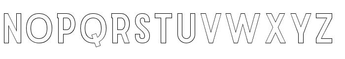 Explode-OffsetOutline Font UPPERCASE