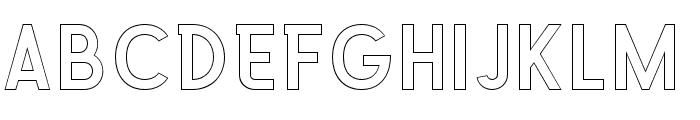 Explode-OffsetOutline Font LOWERCASE