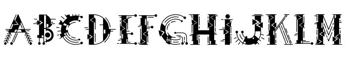 Fiesta Color Decorative Font UPPERCASE