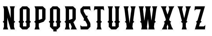 Flathead Deco Font UPPERCASE