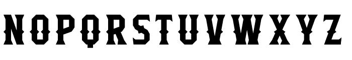 Flathead Deco Font LOWERCASE