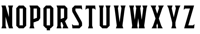 Flathead Serif Font UPPERCASE
