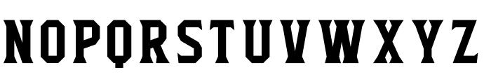 Flathead Serif Font LOWERCASE