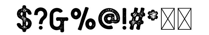 Florest Textured Font OTHER CHARS