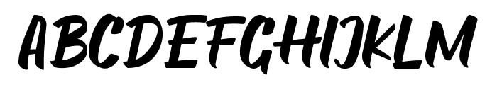 Food Delight Font UPPERCASE