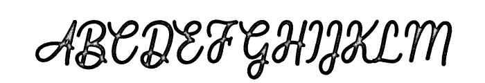 Fountaine Rough Font UPPERCASE