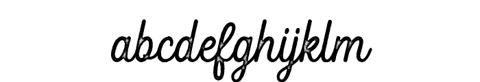 Fountaine Rough Font LOWERCASE