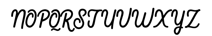 Fountaine Font UPPERCASE