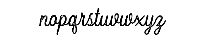 FountaineRough Font LOWERCASE