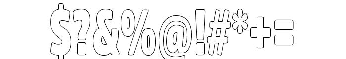 Fritz Outline Font OTHER CHARS