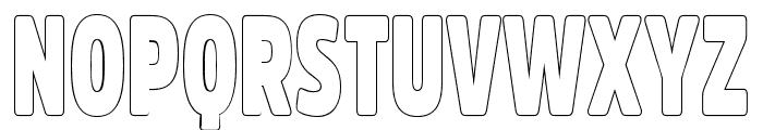 Fritz Outline Font UPPERCASE
