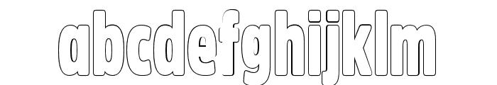 Fritz Outline Font LOWERCASE