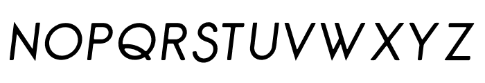 George Rounded Italic Font UPPERCASE