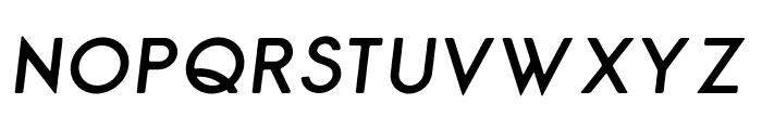 George Rounded Semibold Italic Font UPPERCASE