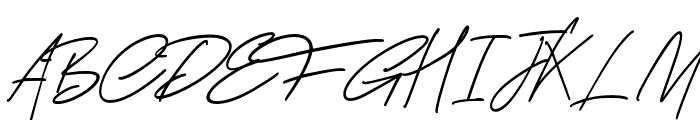 GeorgeSignature Font UPPERCASE