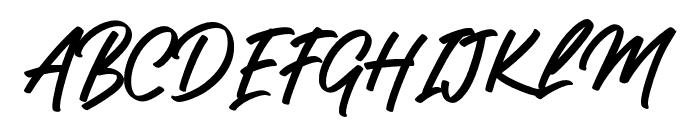 Gislack Font UPPERCASE