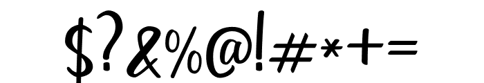 Goldiana Script Font OTHER CHARS