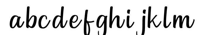 Goldiana Script Font LOWERCASE