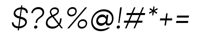 Gopher Text Light Italic Font OTHER CHARS